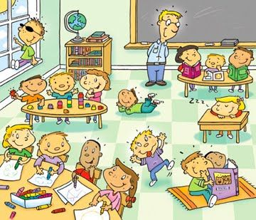 En clase con el maestro