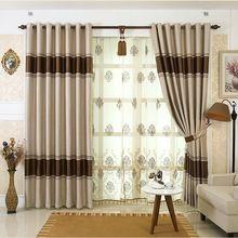 Ready-made quarto cortinas blackout Europa, # Lau-aidehua dupla face jacquard cortinas, sheer cortinas cortinas para sala de estar(China (Mainland))