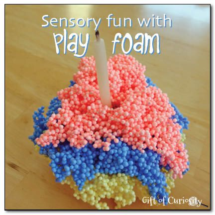Sensory fun with PlayFoam.