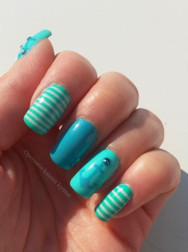 Kiko 344, Kiko 389, Kiko 526, Gina Tricot Shimmer Mint, Sally Hansen I ♥ Nail Art Pen - Turquoise