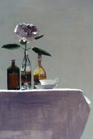 Susan Ashworth: Pink Hydrangea, oil on canvas