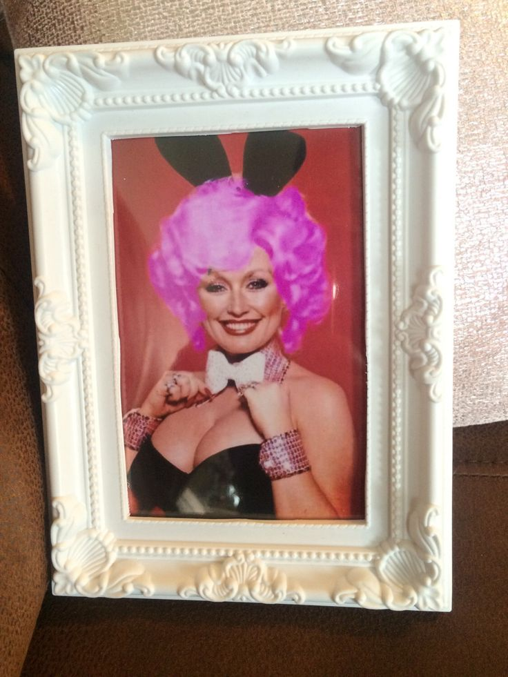 A personal favourite from my Etsy shop https://www.etsy.com/uk/listing/473065428/dolly-parton-playboy-bunny-colour-print