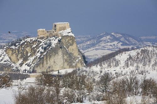 San Leo sotto la neve