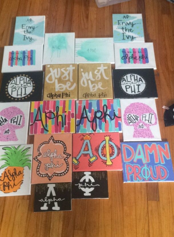 Alpha phi canvases for twins