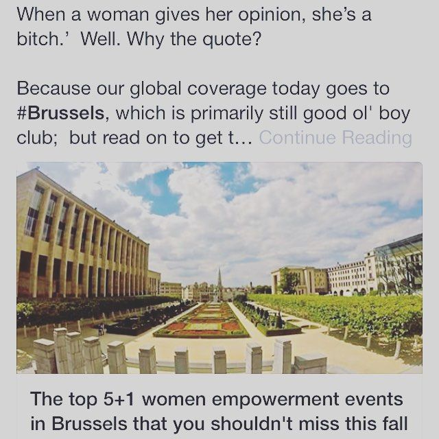 The top 5 #women #empowerment #events you should attend in #brussels #belgium this fall. #europe #motivation #purpose #womentowomen