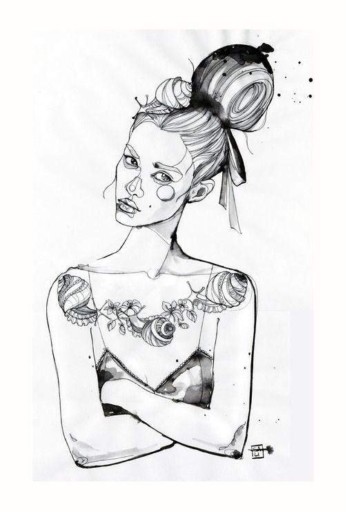 Fashion illustration - chic fashion drawing // Sara Ligari