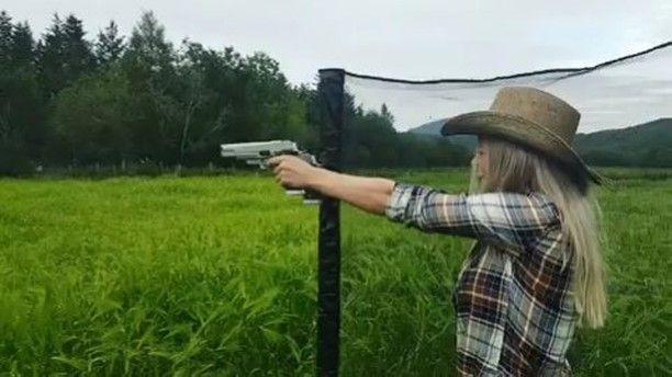 A little fun after the training session never hurt nobody. @trine_rosenvinge   Like  Repost  Tag  Follow   @endlessboxcom https://endlessbox.com #endlessboxcom  #photooftheday #instagood #omg #hunter #badassery #hunting #tbt #ar15 #pistol #ak47 #pewpew #gun #guns #merica #pewpew #happy #nra #badass #beast #glock #handguns #fullauto #wow #pewpewlife #weapon #instamood #weapons #edc