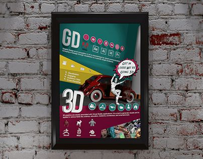 "Check out new work on my @Behance portfolio: ""2D to 3D Poster"" http://be.net/gallery/58424457/2D-to-3D-Poster"