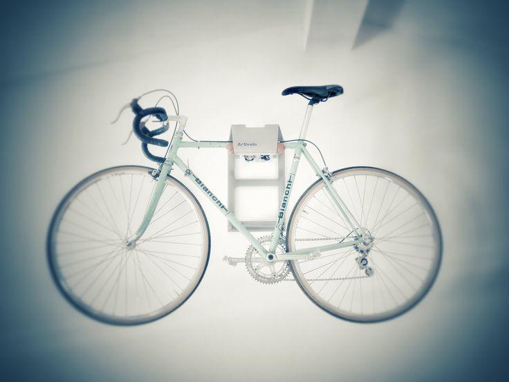 Hang your bike on the wall like Joerg  Adjust, Organize, Personalize  #bianchibicycles #bianchi #bikestorage #bikewallmount #velo #bikeshelf #bikerack #singlespeed #cyclinglife #interiordesign #decor #makespace #interior4all #interiorstyle #bikedock #design #productdesign #fixie #rapha #roadbike #triathlon #igerscycling #instacycle #instabike #cyclingphoto #bicicletta #bikeshop #stravacycling #bici
