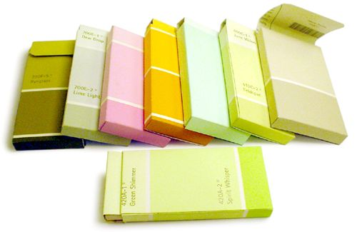 Paint chip business card holders!