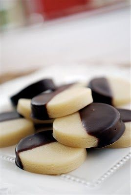 Chocolate-dipped marzipan coins. Mmmmm. Love marzipan. Must try.