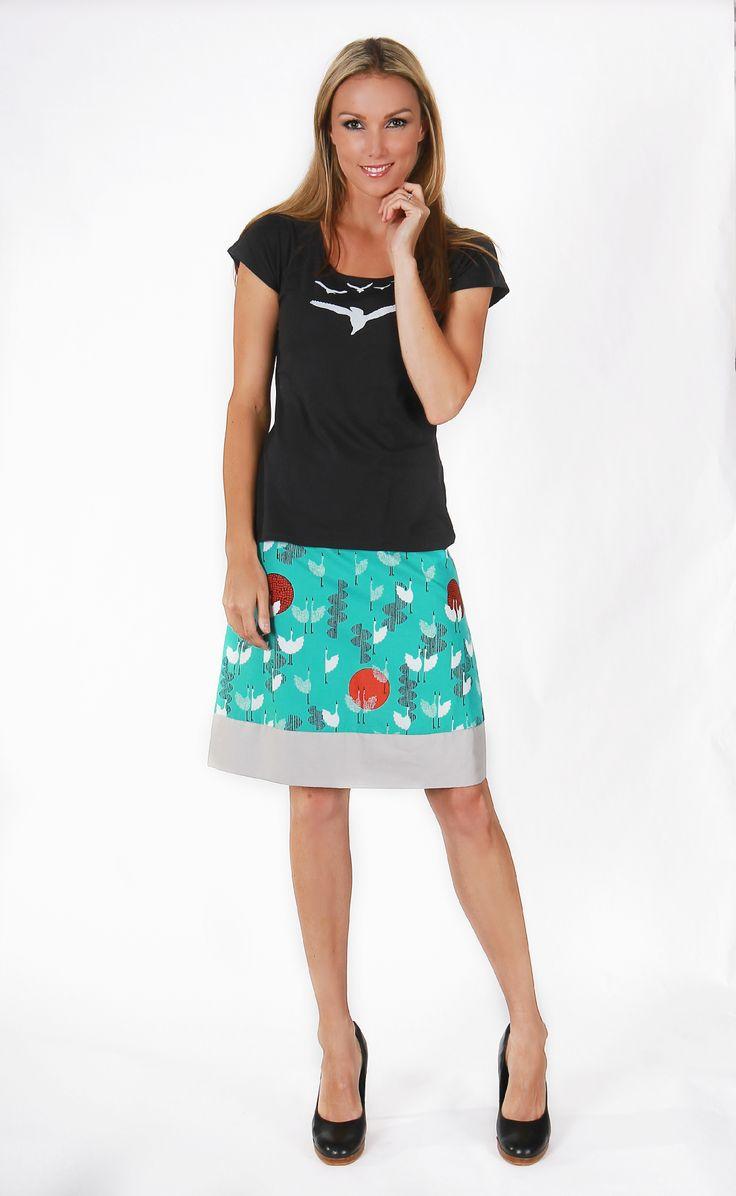 Sunset Reversible Skirt - Shorter Version