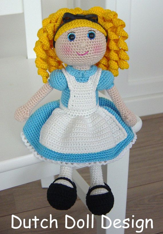 Alice in Wonderland Pattern by DutchDollDesign on Etsy