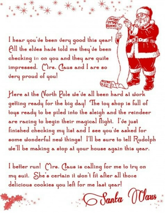 8 best letters from santa images on pinterest christmas letters letter from santa spiritdancerdesigns Images