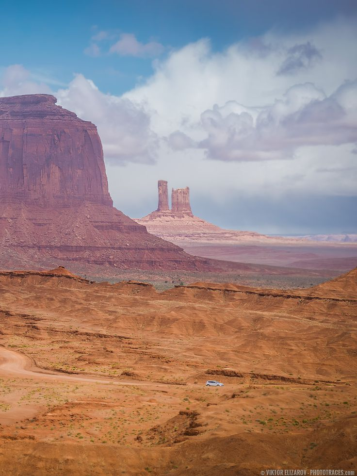 View from John Ford Point in Monument Valley (Arizona) - by Viktor Elizarov from www.PhotoTraces.com