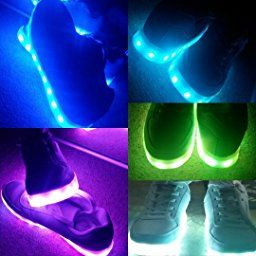 ODEMA Women USB Charging LED Sport Shoes Flashing Sneakers White 39: Amazon.co.uk: Shoes & Bags