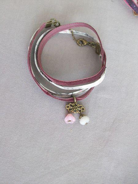 handmade fabric bracelet