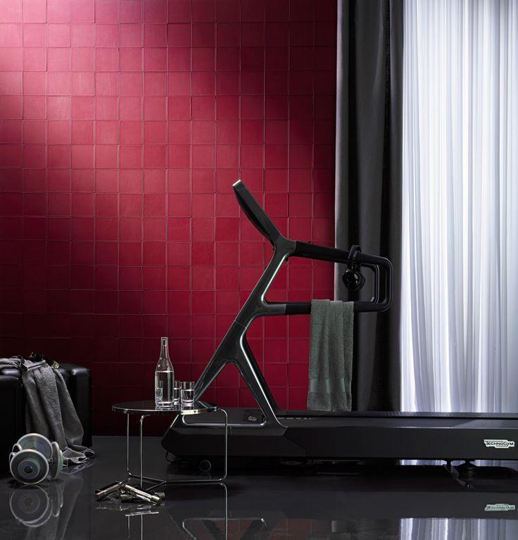 Leather tiles by Studioart #architecture #design