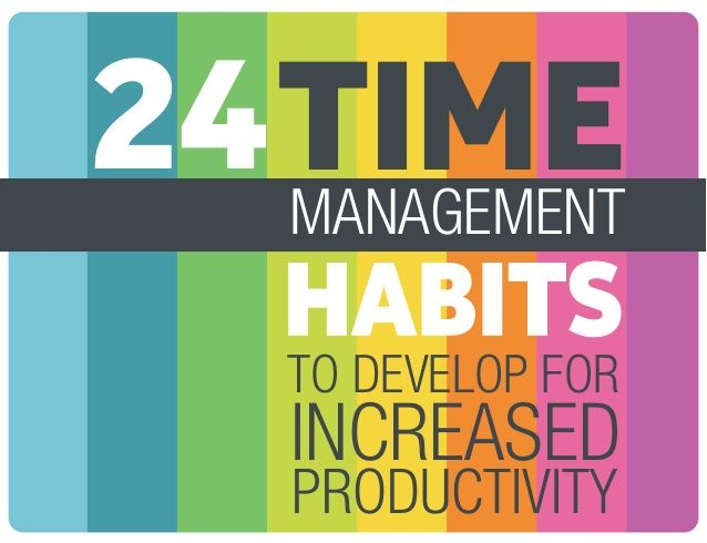 24 time management habits to develop for increased productivity by Iulian Olariu via slideshare
