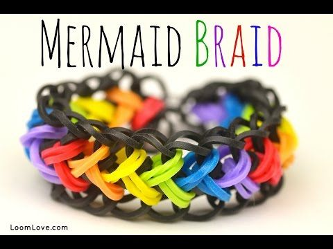 Rainbow Loom MERMAID bracelet. Designed and loomed by Madeline at Loom Love. Click photo for YouTube tutorial. 08/29/14.
