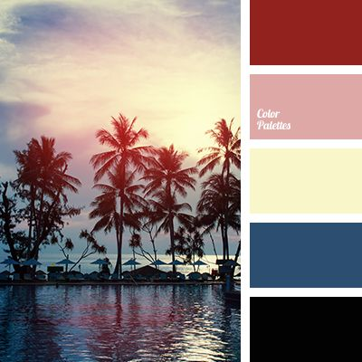 black and dark blue, black and peach, black and red, black and yellow, colour of sunset, peach and black, peach and dark blue, peach and red