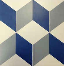 Victorian, Encaustic effect Geometric, Retro style ceramic floor tiles - Cubic