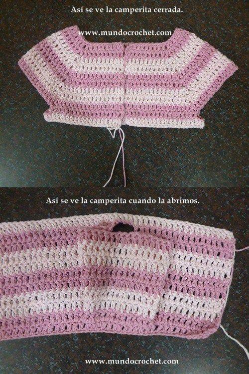 Como tejer un saco, campera, cardigan o chambrita a crochet o ganchillo desde el canesu19