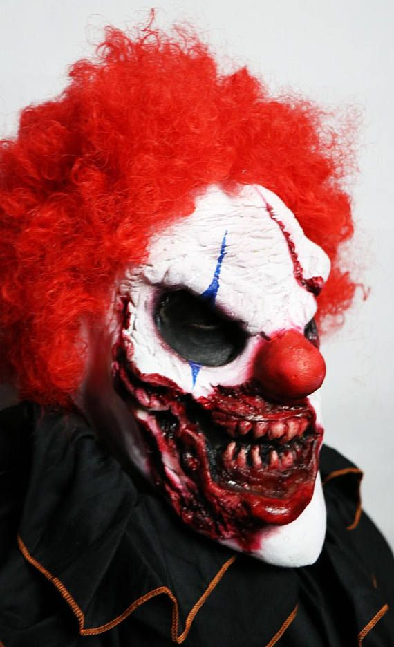 Killer Clown Costume Mask Prosthetic Scary Clown Mask Prosthetic for Adult Clown Costumes  NEW For 2017 !!! Check out my website www.JaneDoeFX.com for deals and promos ! LIMITED QUANTITIES AVAILABLE  Item Name: STABBY Works For: Adult Faces - runs bigger - will not fit a child or a petite woman. Runs bigger but can be cut down for comfort / fit. Included: One Facial Prosthetic. Special FX Facial Prosthetic.Handmade & Prepainted by Airbrush  I tried out a few different looks here for ...