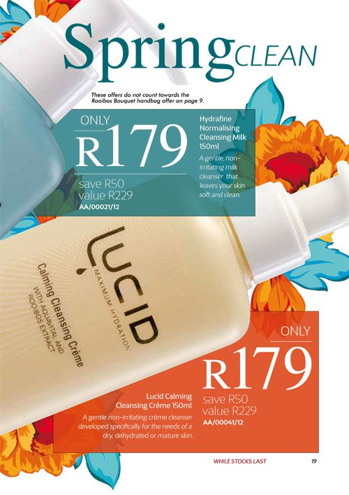 Annique September 2017 Beauté Hydrafine and Lucid Cleansers Purchase any of these months awesome #Annique #Specials from our online store AND earn rewards while you're there. #rooibosmiracle  https://rooibos-miracle.co.za/store/