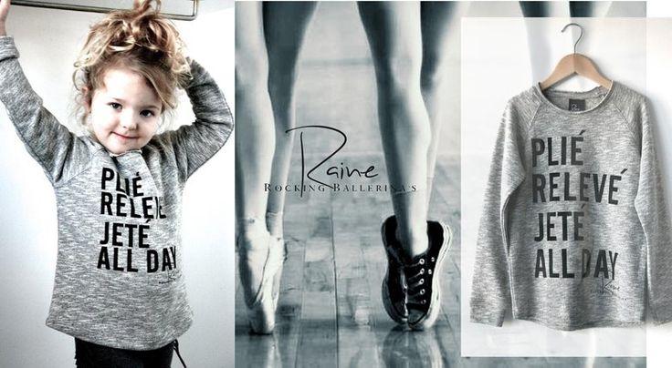 Rainr rocking ballerina, leuke en betaalbare kinder- en vrouwen sweaters en t-shirts