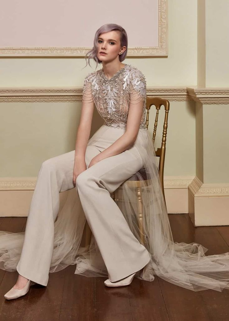 45 best Feminine Suits and Jumpsuits for Weddings images on ...