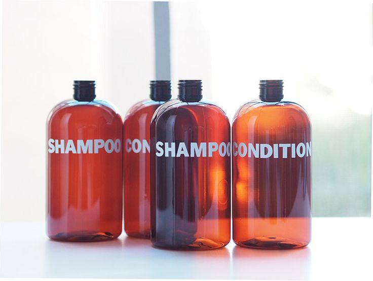 bathroom DIY, bathroom organization, bathroom organization DIY, bathroom storage, bathroom storage DIY, shampoo bottle DIY, shampoo DIY Dress Up Your Shower with DIY Shampoo Bottles   Musings on Momentum