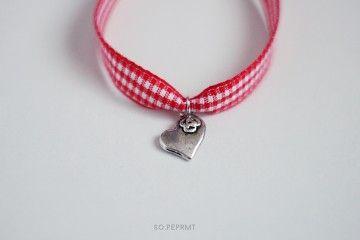 Sju - Heart #sopeppermint #sopeprmt #heart #checked #bracelet
