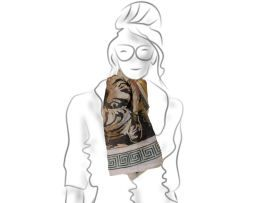 Luxusné hodvábne šatky - ručná maľba na hodváb, originálne a elegantné umelecké dielo