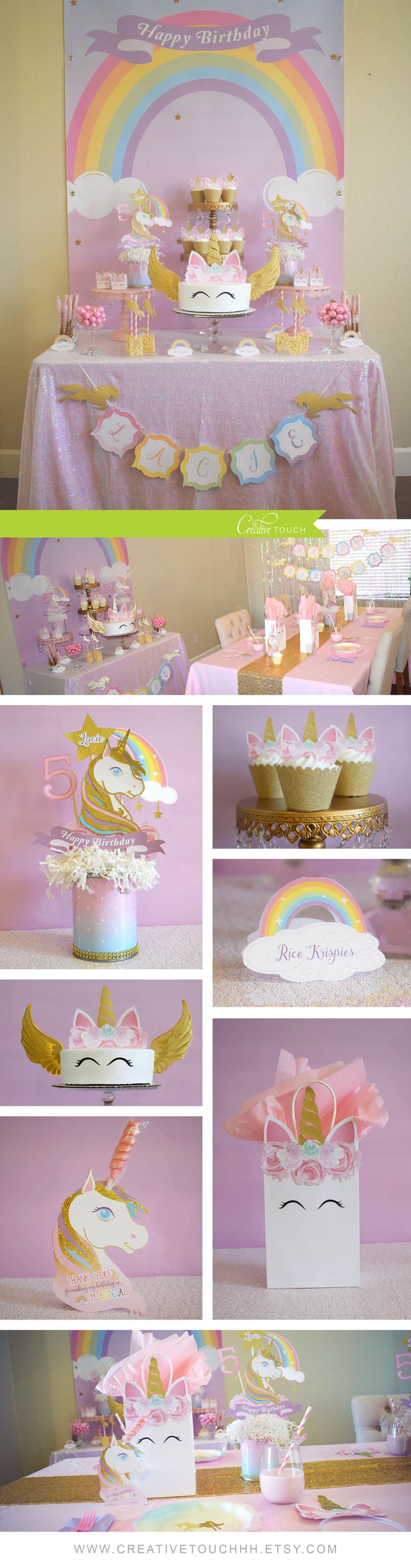 Unicorn Birthday Party, Unicorn Party, Unicorn Cake, Unicorn Cupcakes, Unicorn Topper, Unicorn Banner, Girl Birthday Party, Girl Party, Girl Birthday, Party Ideas, Girl party Ideas, Girl Party Themes, Party Themes, Cake, Cupcake, Unicorn Decorations, Unicorn Celebration, Unicorn Backdrop, Unicorn Buffet table, Unicorn Candy Table, Unicorn Centerpieces, Unicorn Favor Tags, Unicorn Favor Bags, Unicorn Party Favors, Unicorn Party Supplies