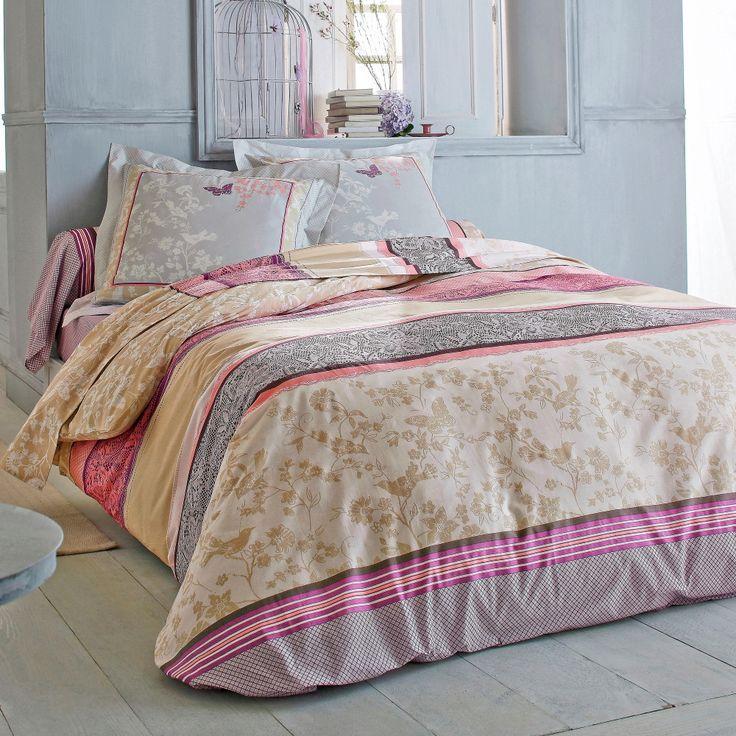Poésie et élégance pour cette parure de lit Blancheporte au doux nom de Maelle…