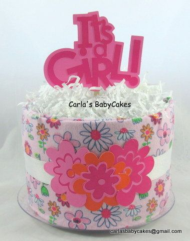 Torta pannolino ragazza Torta di pannolini di MsCarlasBabyCakes