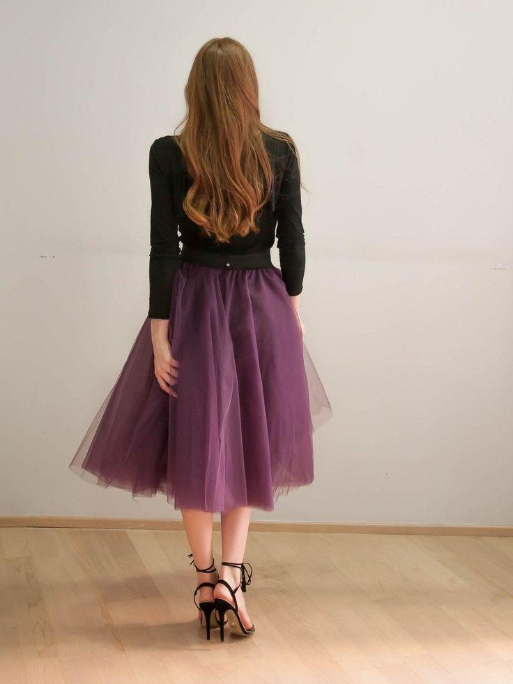 skirt tutu midi purple color Joanna Misseli exclusively in Papa k Froufrou