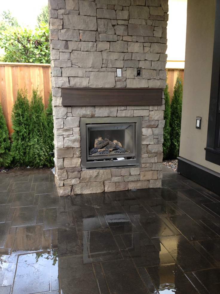 Patio fireplace, different rock work though
