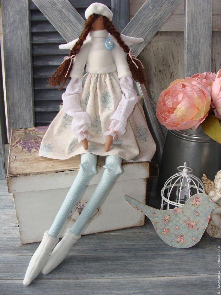 Купить ангелок Николь.тильда - голубой, тильда, тильда кукла, тильда ангел, ангел, ангелочек