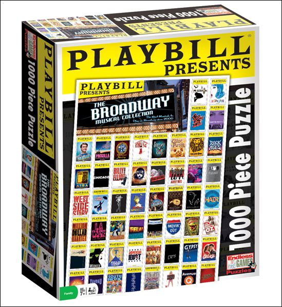 Playbill Presents the Broadway Musical Collection - 1,000 Piece Jigsaw Puzzle  $13.95