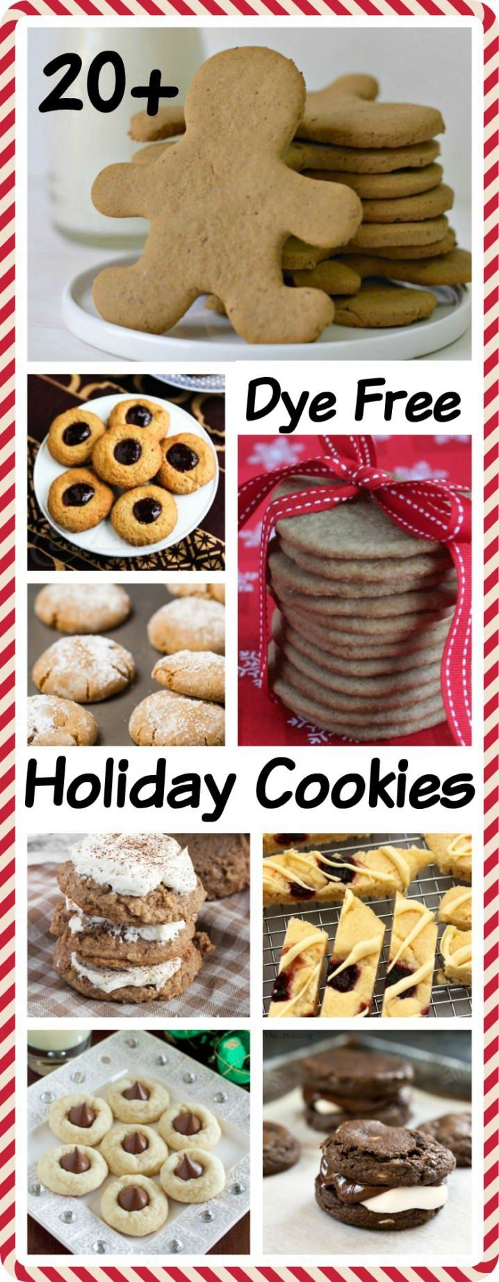 23 Dye Free Holiday Cookie Recipes - Now even kids and adults with food allergies can enjoy Christmas cookies!