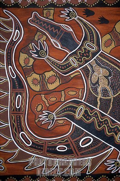 Aboriginal art , Australia stock photo