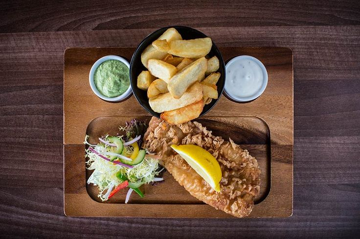 Cod and chips at the Enniskillen Hotel, Fermanagh.  http://fabbreaks.com/