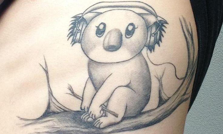 Tatuajes de koalas, simbolizando la conexión con la madre tierra - http://www.tatuantes.com/tatuajes-de-koalas-significado/ #tattoo
