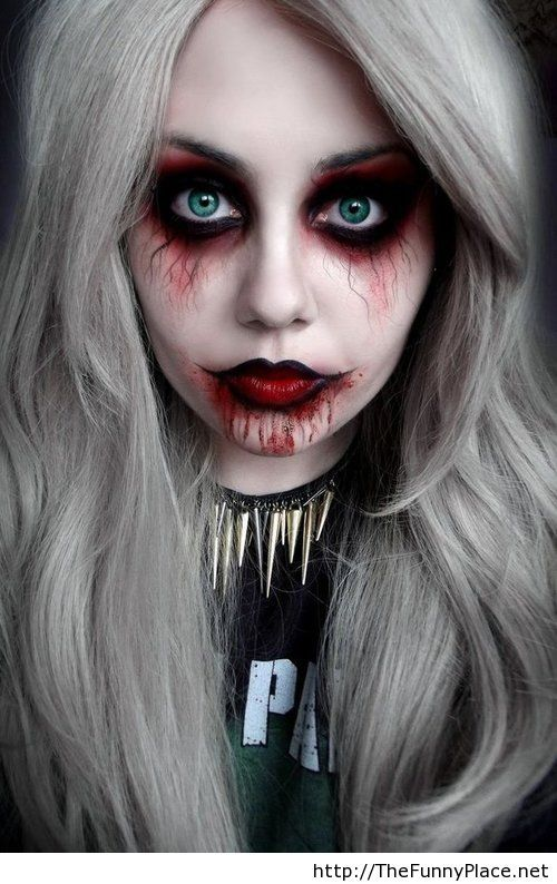 Scary Halloween makeup - Funny Pictures, Awesome Pictures, Funny Images and Pics #wantablehalloween #halloween