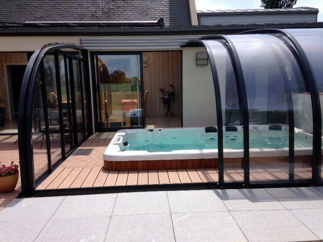 Les 15 meilleures images du tableau spa sur pinterest spa chalets et pergolas - Spa de nage occasion ...