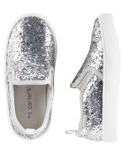 Carter's Glitter Slip-On Sneakers