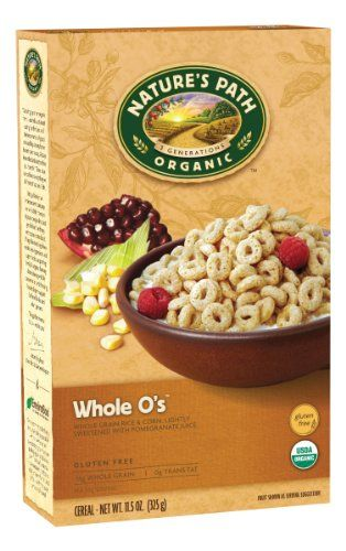 Nature's Path Organic Whole O's, Gluten Free Cereal, 11.5-Ounce Boxes (Pack of 6) - http://goodvibeorganics.com/natures-path-organic-whole-os-gluten-free-cereal-11-5-ounce-boxes-pack-of-6/