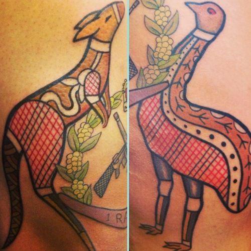 Tatulu's Tattoos, (Tattoo Lou) NSW Australia - Australian Aboriginal style tattoos #tattoos #australia